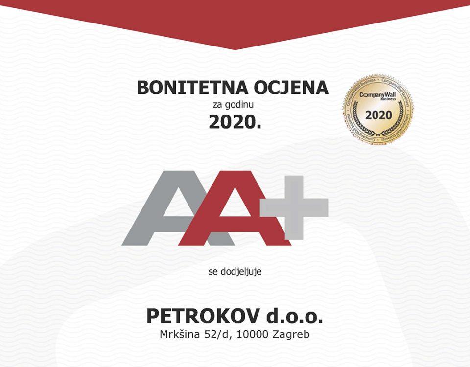 bonitet company wall certifikat